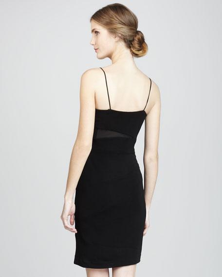 Tanya Mesh-Inset Dress