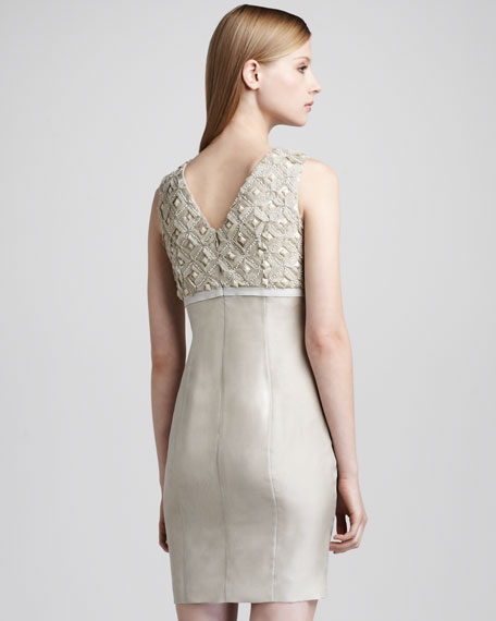 Gena Doupioni Dress, Cream