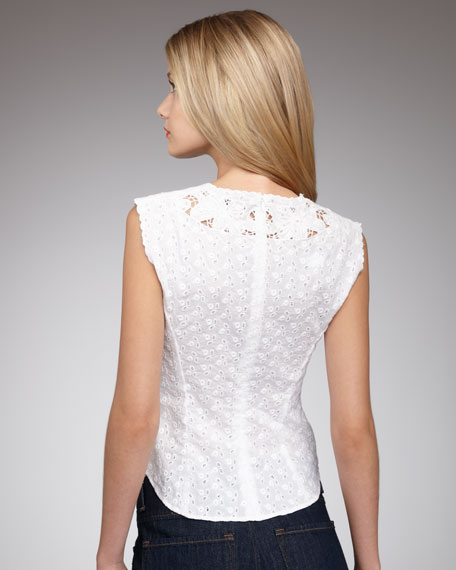 Cholula Eyelet Top, White