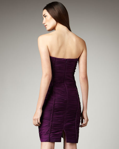 Ruched Rope-Trim Dress