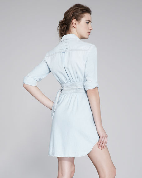 Denim Wrap Dress