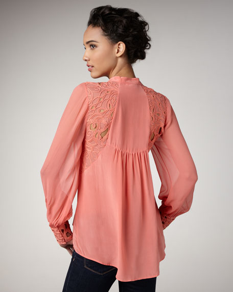 Abbey Embroidered Silk Blouse
