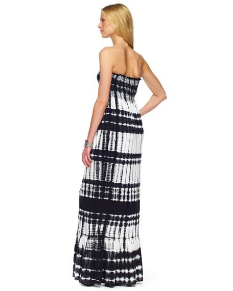 Smocked Tie-Dye Maxi Dress