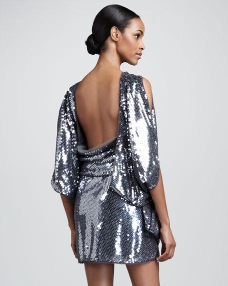 Blouson Sequin Dress
