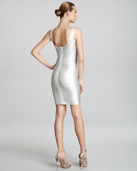 Basic Shimmer Bandage Dress