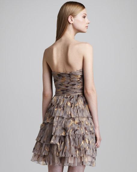 Strapless Tiered Dress