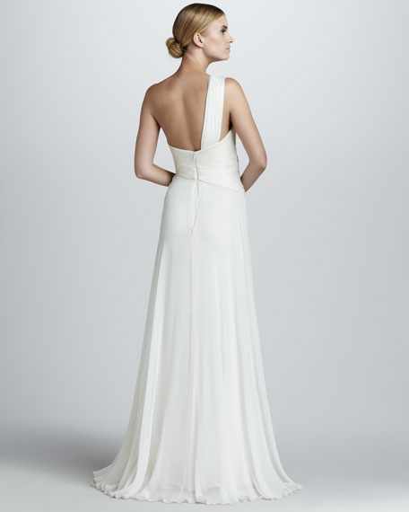One-Shoulder Grecian Gown