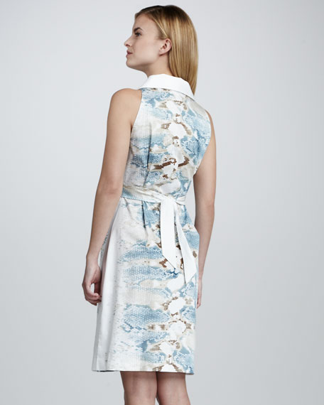 Mimi Watercolor-Print Dress