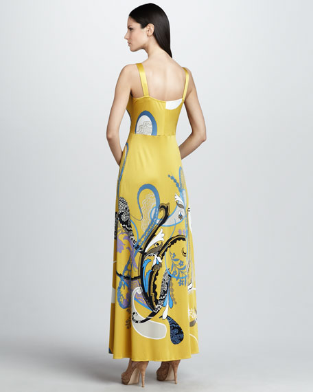 Liz Printed Maxi Dress