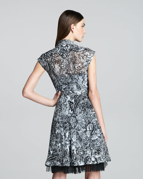 Rockabilly Printed Dress