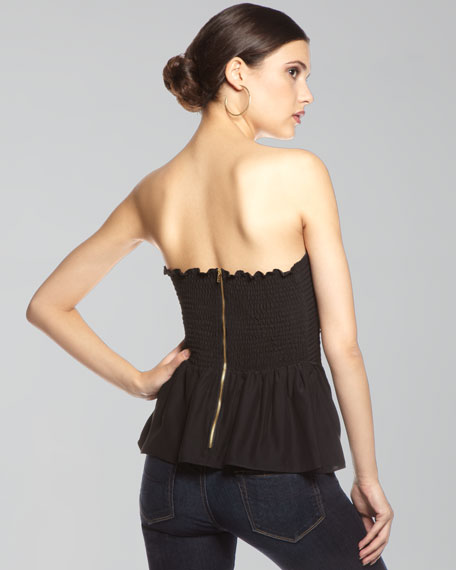 Silk Corset Top, Black