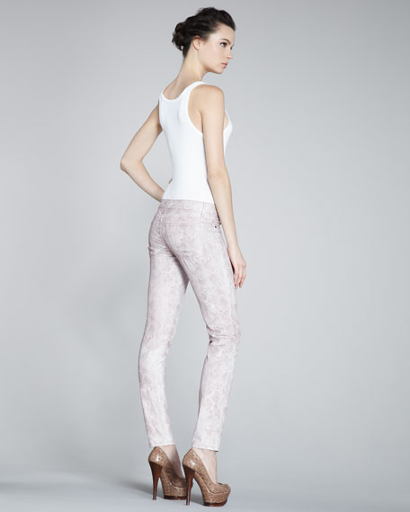 Legacy Cobra-Print Skinny Jeans