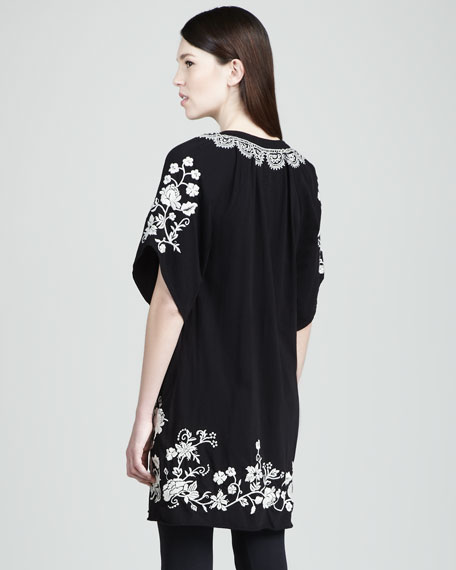 Tanya Belted Embroidered Dress