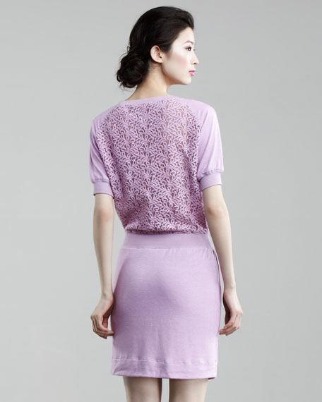 Lace-Back Dress