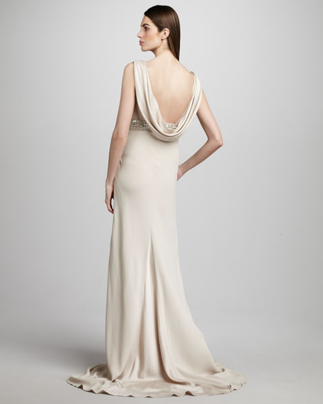 Beaded-Waist Gown