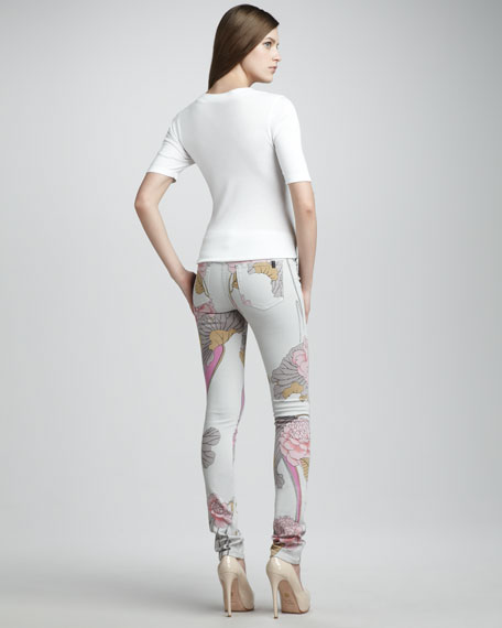 The Skinny Blooming Floral Jeans