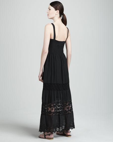 Monique Lace-Accent Maxi Dress
