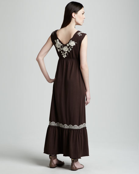 Tanya Embroidered Maxi Dress, Women's