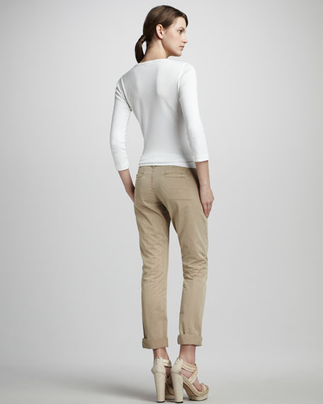Inez Cropped Chinos