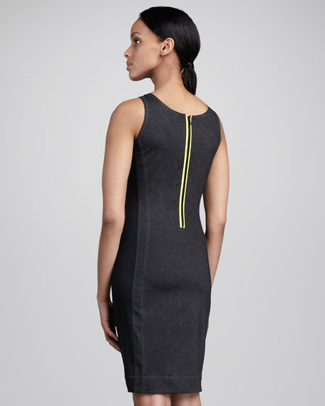 Sleeveless Scuba Dress