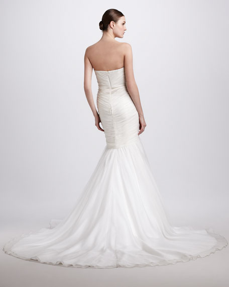 Beaded Strapless Mermaid Gown