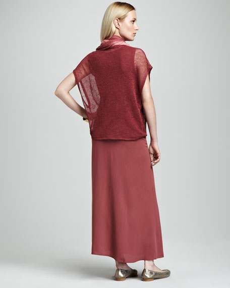 Silk Maxi Skirt, Women's