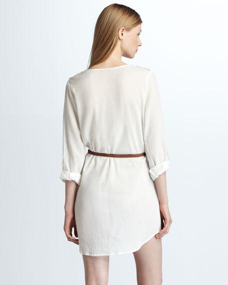 Rathana Belted Silk Dress