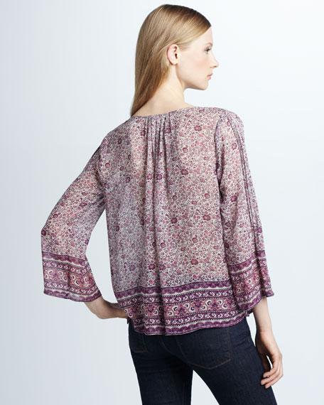 Sadira Printed Silk Blouse