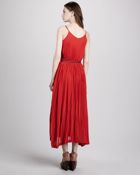 Leonard Pleated Midi Dress