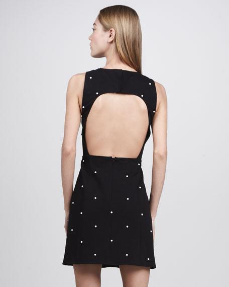 Dover Beaded Sleeveless Dot Dress