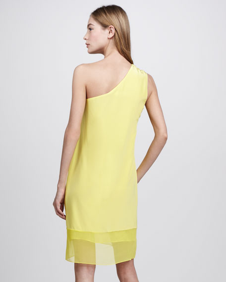Hannah Silk One-Shoulder Dress