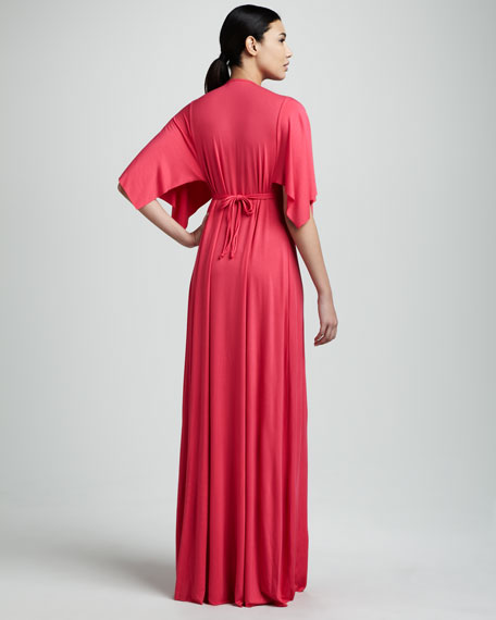 V-Neck Maxi Dress, Women's
