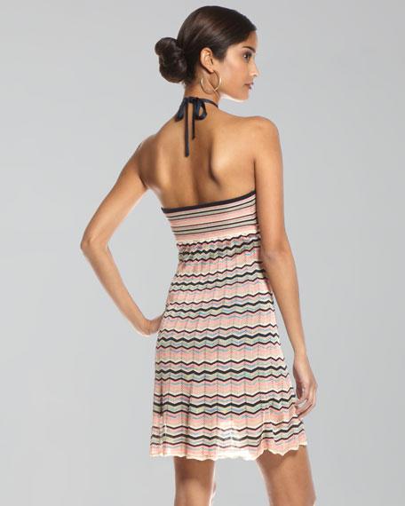 Kiana Zigzag Halter Dress