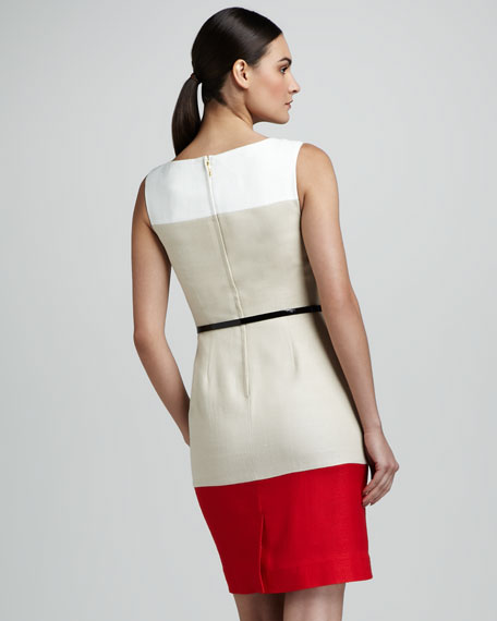 brodie sleeveless colorblock dress