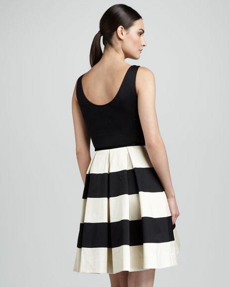 celina stripe-skirt dress