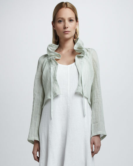 Cropped Linen Jacket