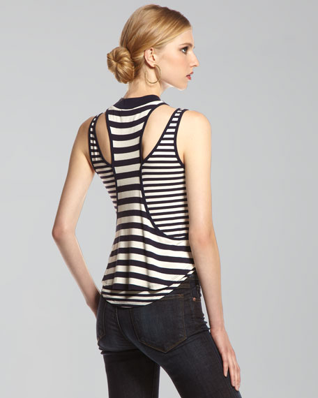 Nima Two-Layer Striped Top
