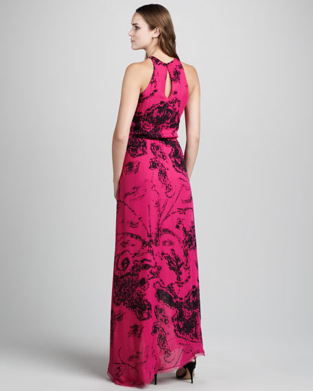 Printed Jersey Gown