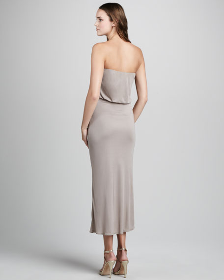 Double-Layer Strapless Dress
