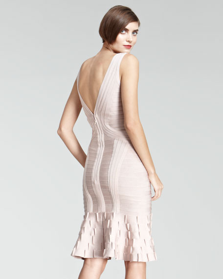 Flare-Hem Bandage Dress