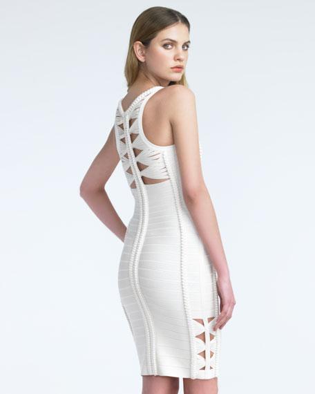 Braid-Trim Bandage Dress
