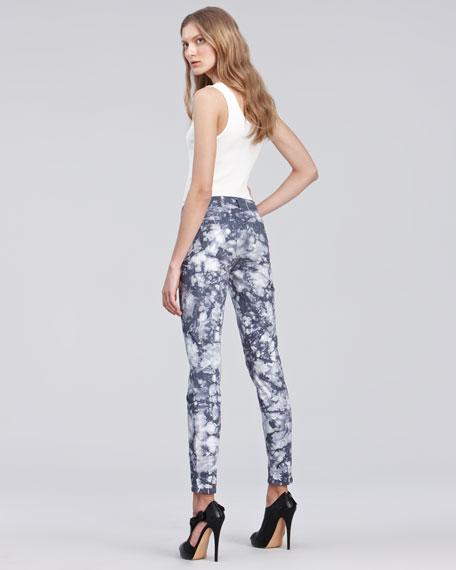 810 Twisted Plum Tie-Dye Skinny Jeans