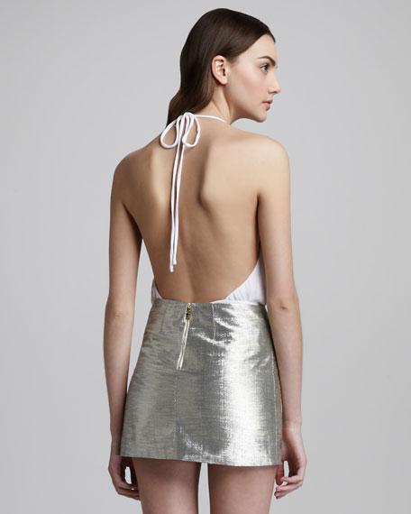 Myra Metallic Miniskirt