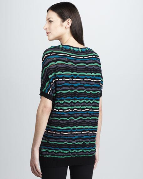 Wavy-Stripe Knit Top