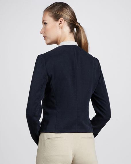 Contrast Lapel Jacket