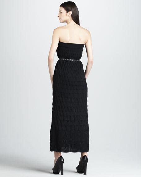 Strapless Knit Maxi Dress