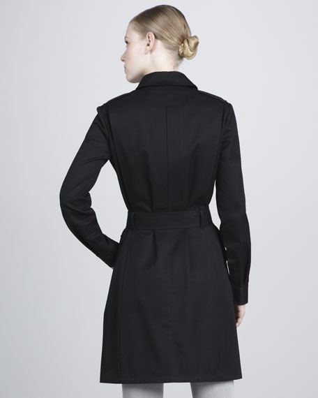 Cotton Gabardine Jacket, Black