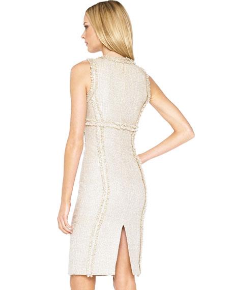 Organza-Fray Tweed Dress