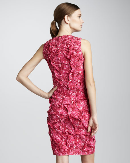 Crepe de Chine Dress, Hydrangea