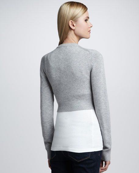Cropped Cashmere Sweater, Pearl